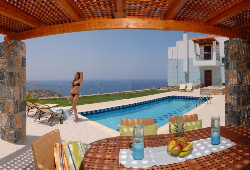 This is the view from the deck-veranda - Rethymnon Crete Villas: Your holidays our passion! - Rethymnon Prefecture - rentals