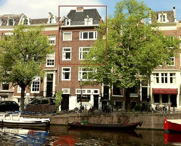 Front of the house - Big and Beautiful 4 bedrm apt on Keizersgracht - Amsterdam - rentals