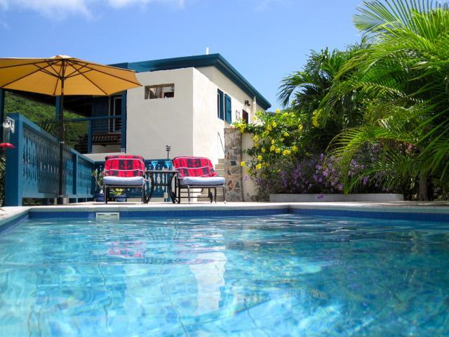 Pool view of the house - Anchorage Aweigh-Private 1 or 2 BR Villa - Coral Bay - rentals