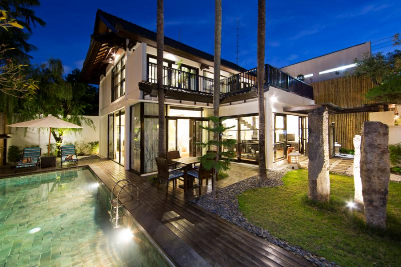 Yuubi - Outdoor Pool View - Yuubi | Four On Drupadi - Seminyak 2 Bedroom Villa - Seminyak - rentals