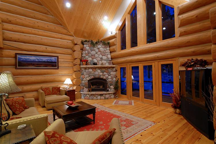 Beautiful Great Room at dusk - Paradise Meadow Lodge - Breckenridge - rentals