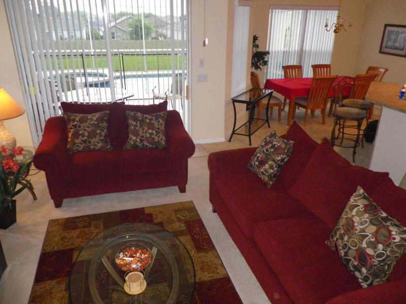 Lounge leading to pool  - FLIPKEY: WINNER 2011 & 2012 TOP VACATION RENTAL!!! - Orlando - rentals