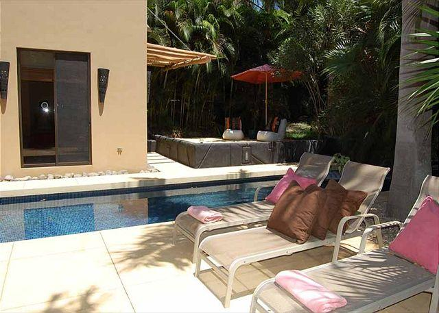 Patio and Pool - Beautifully decorated 3BR house, easy walking distance to the beach - Tamarindo - rentals