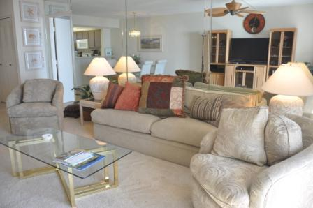 Welcome to South Seas Tower IV #1502 - Living area - South Seas - SST41502 - Condo on Tigertail Beach! - Marco Island - rentals