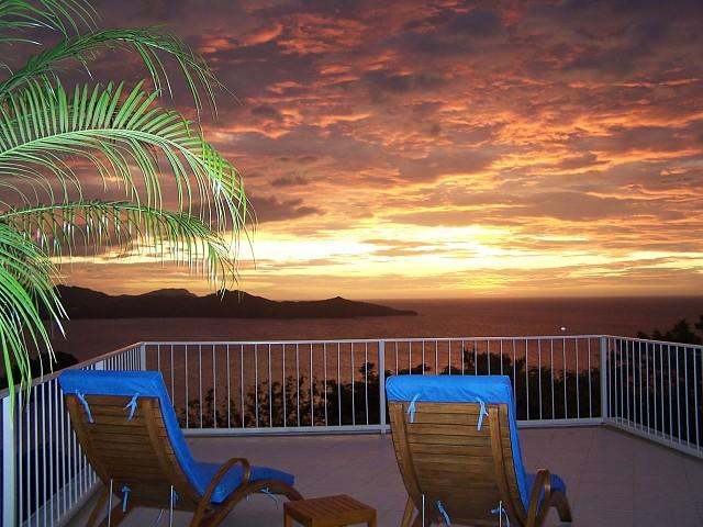 Sunset View from Terrace - Casa Cielo - Playa Flamingo - rentals