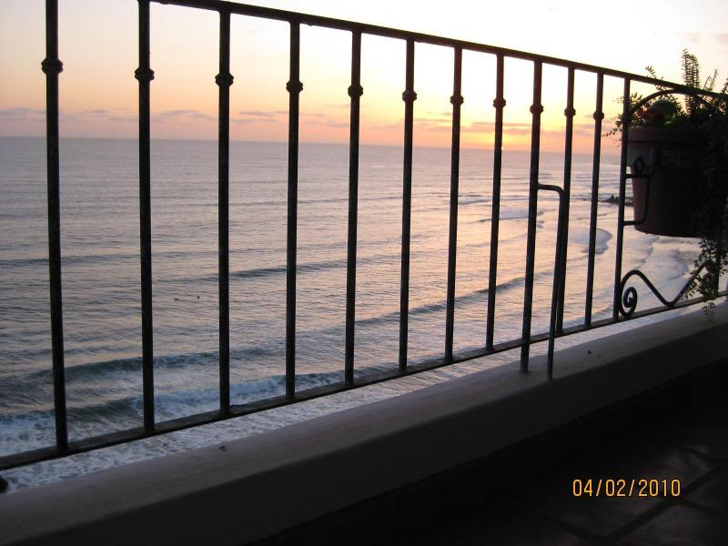 North @ Dusk from Veranda - Crashing Waves off your 22 ft.Veranda (SEE VIDEO)! - Rosarito Beach - rentals