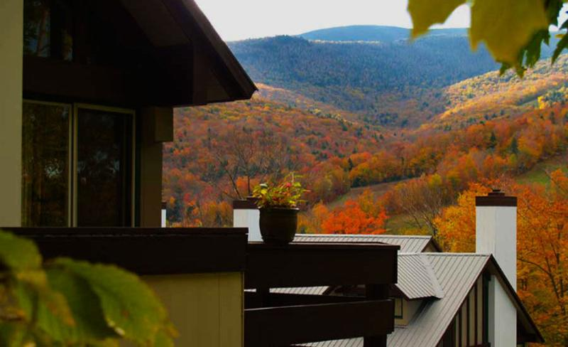 View from the deck over to Loon Mountain - .Chalet in Coolidge Falls - Lincoln - rentals