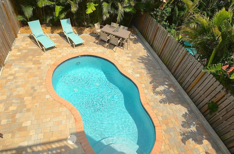 Spacious (Private) Rear Yard w/Heated Pool and Lounge Area Dining... - Villa Grenada NEW LUXURY 4BR/4BA POOL HOME 2 BLK TO BCH STUNNING - Lauderdale by the Sea - rentals