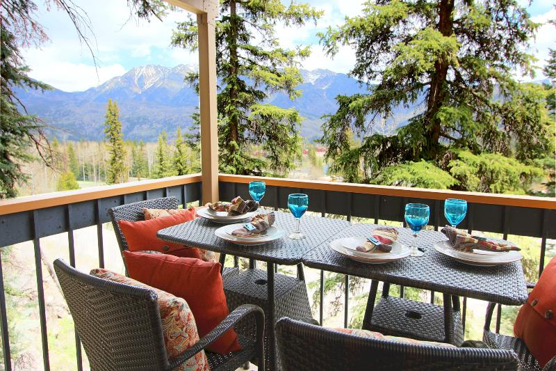 The Durango mountains appear even closer in person; Enjoy both a balcony and patio! - Stunning Slope-Side,  Year-Round Mountain Romance! - Durango - rentals