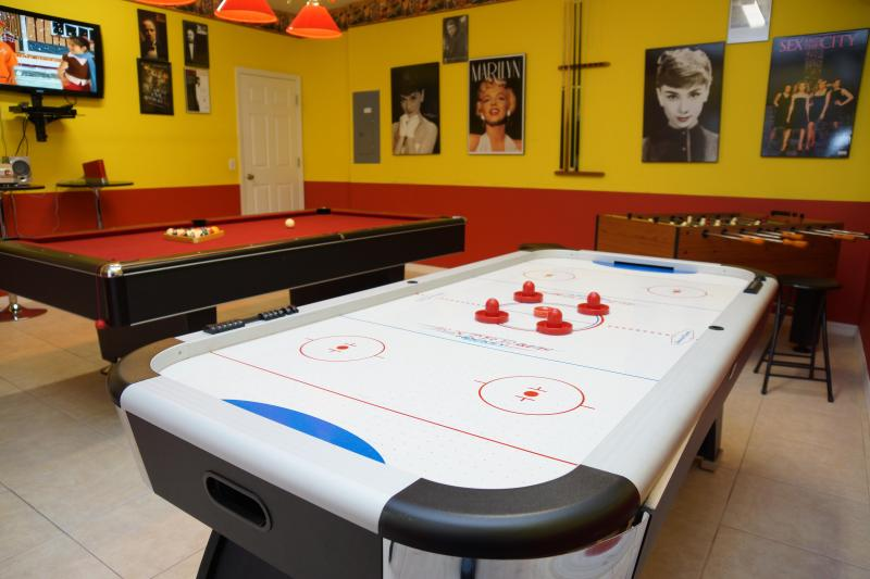 Air-Conditioned Game-room  - Emerald Island Resort's 7 bed villa - Disney Magic - Kissimmee - rentals