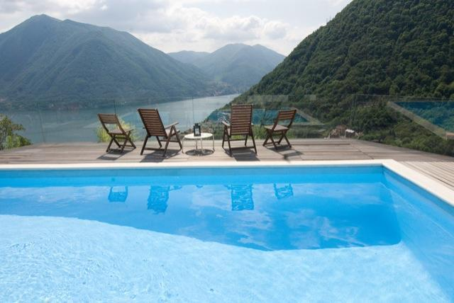 just chillin' by the lake view pool - Villa Lilla Luxury villa - pool & lake views - Muronico - rentals