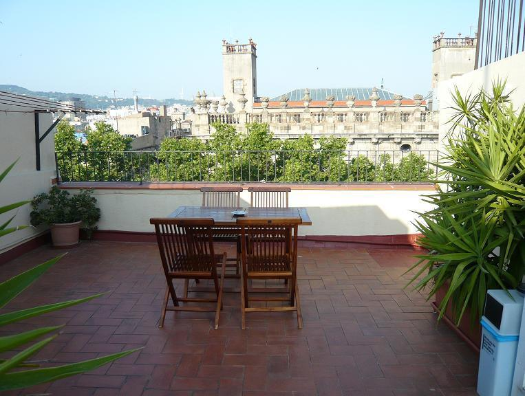 Large TERRACE, sunny, quiet and amazing views of Barcelona - Cute apartment, amazing TERRACE, in Las Ramblas - Barcelona - rentals