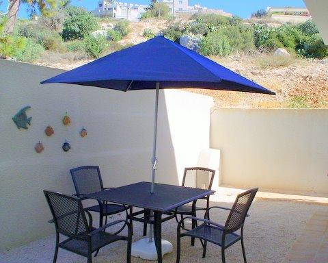 Patio fully furnished facing hillside - 2 Bedroom holiday home in Peyia - pool - FREE WiFi - Peyia - rentals