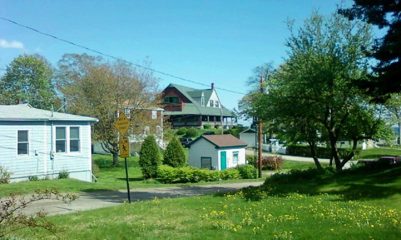 Spring View from Seashore Avenue - Eighth Maine Regiment Memorial Building - Peaks Island - rentals
