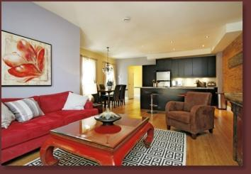 Cool City Pad Suite Living Room - Luxurious, Spacious Suites In The Heart of Toronto - Toronto - rentals