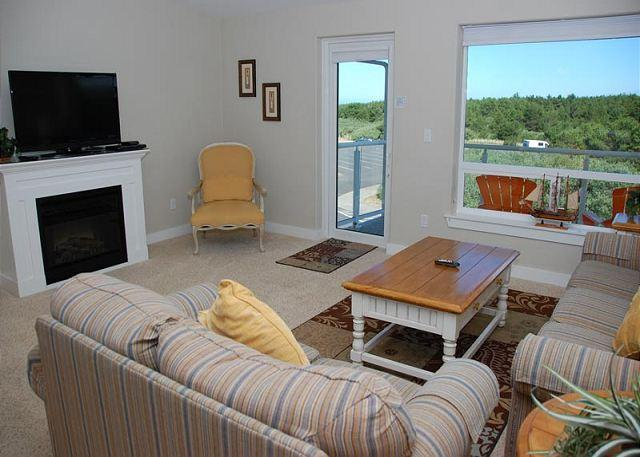 Unit 1234 Living Room - Luxury beach condo - Awesome view of lighthouse!  Walk to beach! - Westport - rentals