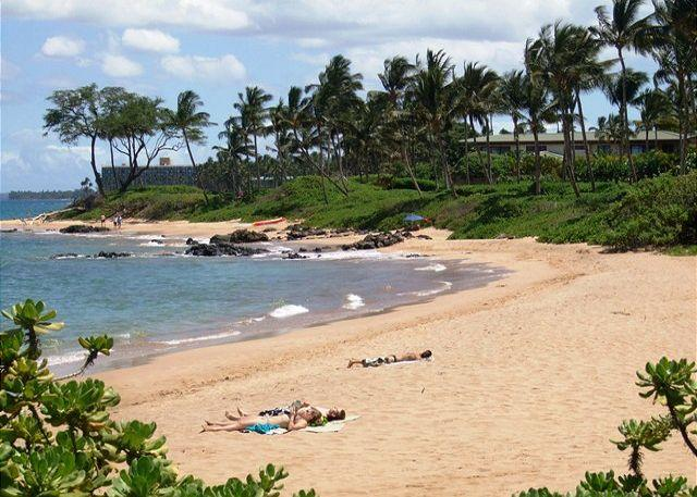Mokapu Beach and Ulua Beaches near the condo - Grand Champions #51 is a 2Bd 2Ba is a large condo that sleeps 6. Great Rates! - Wailea - rentals