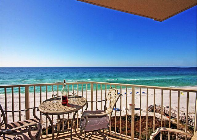 View from the balcony - BIG BEAUTIFUL BEACHFRONT FOR 6! OPEN 10/18-25! CALL NOW! - Destin - rentals
