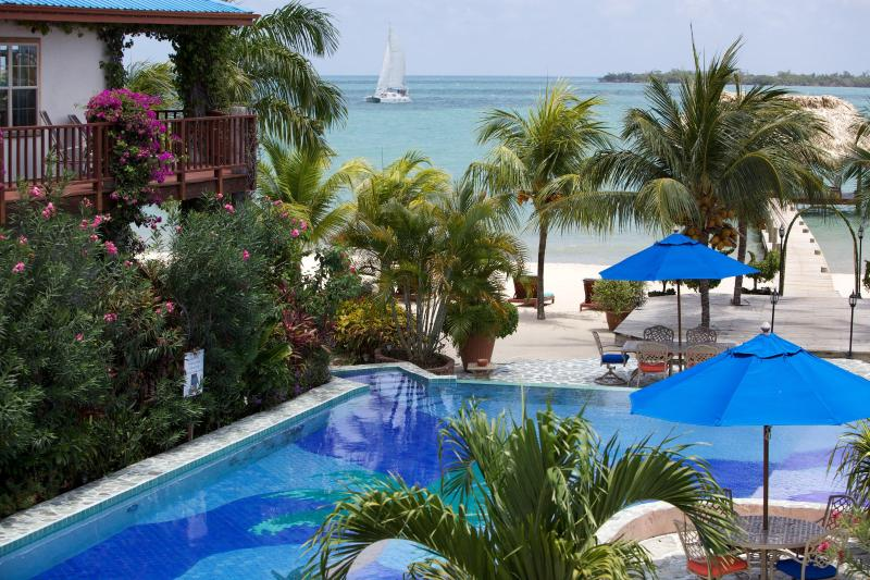 Belize Resort - Tropical and Caribbean View from Verandah - Luxury Seaview Villa At Chabil Mar - Placencia - Placencia - rentals