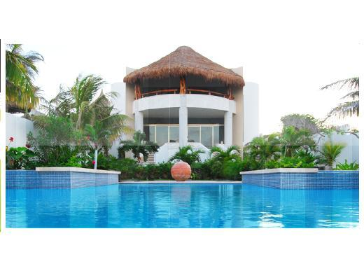 Pool view of Main Villa - Casa De Las Palmas Ocean Front Oasis up to 16 - Isla Mujeres - rentals