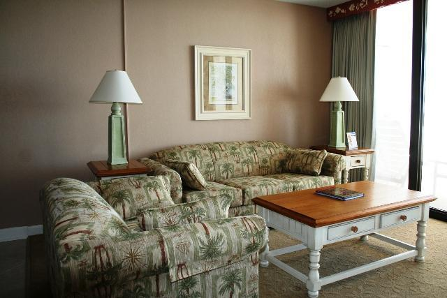 Living Room with Ocean Views - Club Regency at Regency Towers - Myrtle Beach - rentals