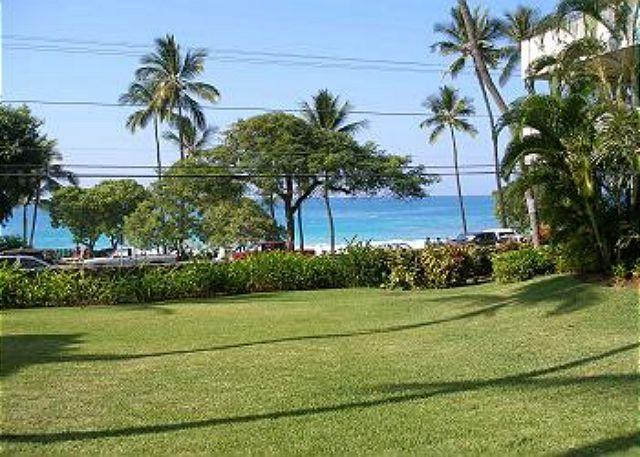 Court yard in the center of the buildings. - #WSV121 - White Sands Village 121 - Kailua-Kona - rentals