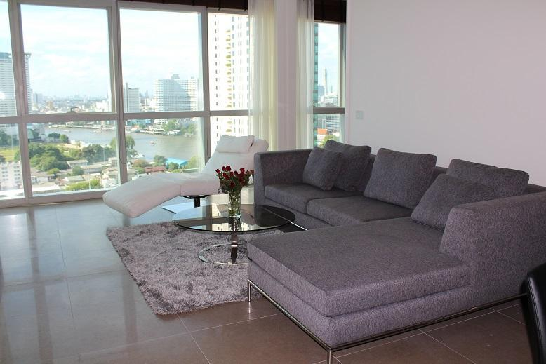 Danube - the living area - TheRiverSideBangkok - the new RIVER condo - 2/3BR - Bangkok - rentals