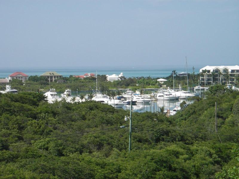 View of Turtle Cove Marina from the deck. - Million Dollar View - Affordable Cost - Providenciales - rentals