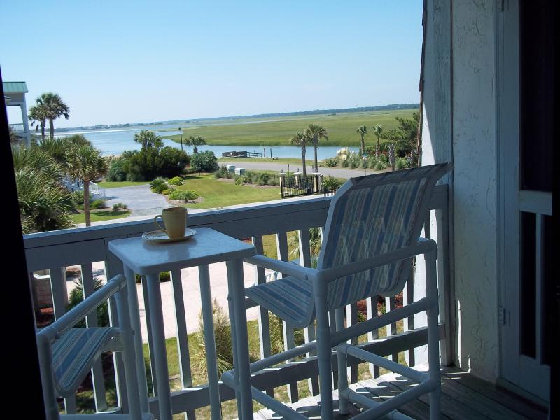 Have morning coffee here or view sunset - West-End Condo- Oceanfront Complex - Amazing view - Ocean Isle Beach - rentals