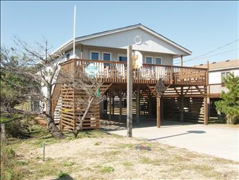 Exterior of home taken from the Beach Road - A & M South 7340 - Kitty Hawk - rentals