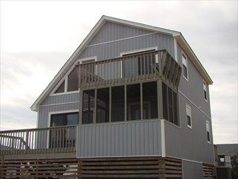 Exterior of home taken from the oceanside (East Facing Side) - Starfish & Starlight 74158 - Kitty Hawk - rentals