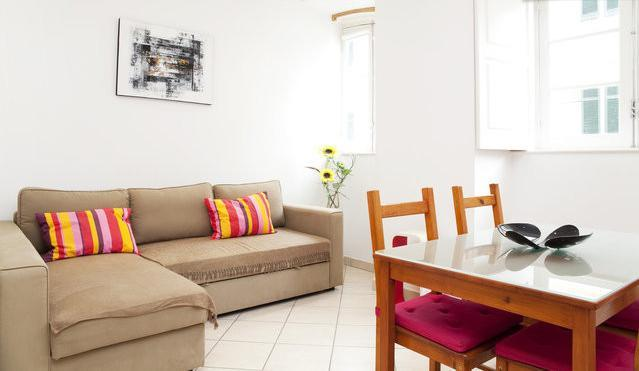 Bright, open living area with pull-out sofa bed (sleeps two) - Modern Accommodation in the Heart of Lisboa - Lisbon - rentals