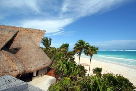Beautiful Casa Nalum Villa with Pool - Nestled Along a White Sandy Beach - Image 1 - Sian Ka'an - rentals