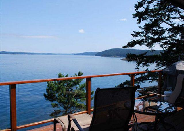 Marvelous views of Mt. Baker, boat traffic, and a secluded cove are all yours to enjoy. - Robinsons Cove on San Juan Island - Friday Harbor - rentals