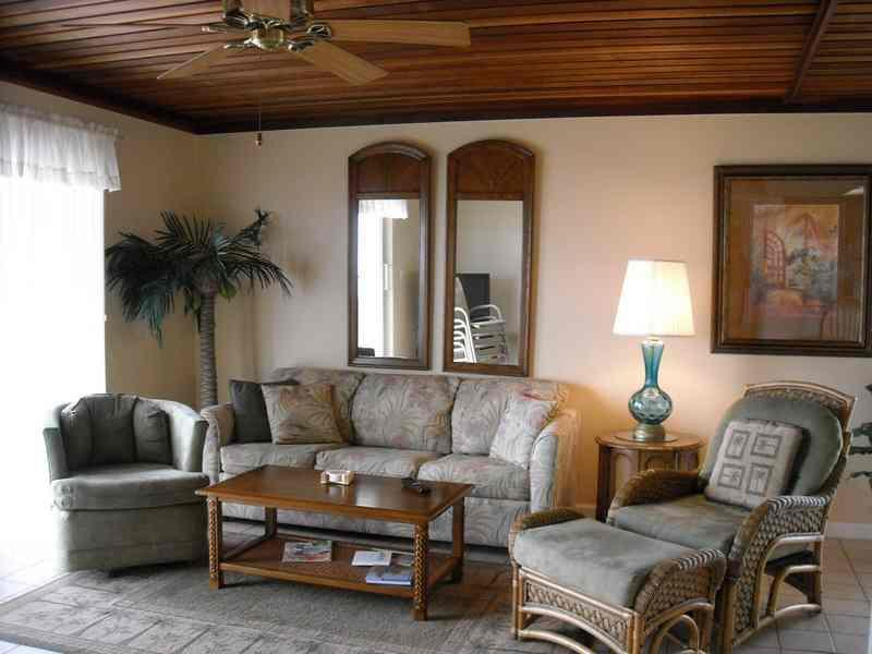 Living room with view of the water - Seagull #304 - South Padre Island - rentals