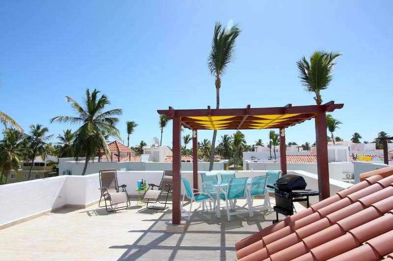 East South view from Terrace - Mint clean 2 bedr. 2 full baths-walk to the beach! - Punta Cana - rentals