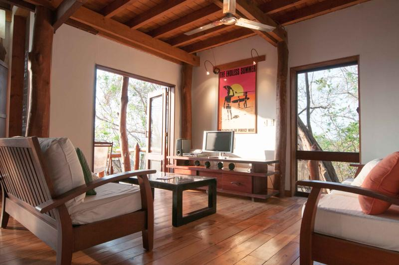 The media room- relax and watch a movie - Forest and Surf Villa Nicaragua - San Juan del Sur - rentals