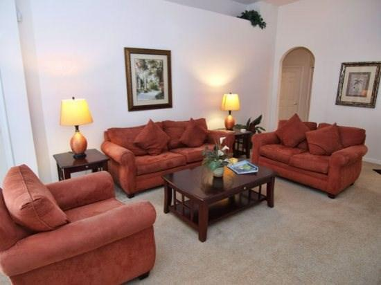 Living Area - TLCP4P189MC 4 BR Luxury Villa with Pool and Spa - Haines City - rentals