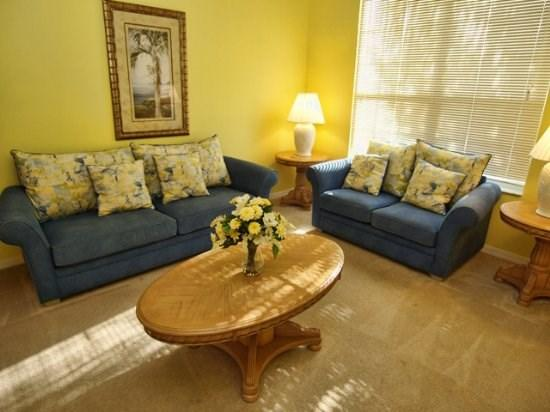 Living Area - SD6P3106SKC 6-bedroom Villa with Overlooking Conservation - Haines City - rentals