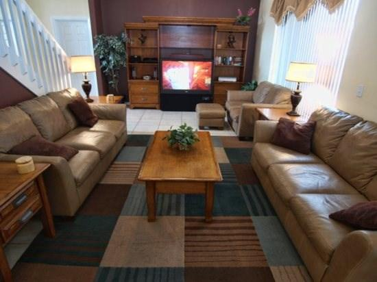 Living Area - CL7P2516CLC 7 BR Cozy Pool Home with Amenities Galore - Kissimmee - rentals
