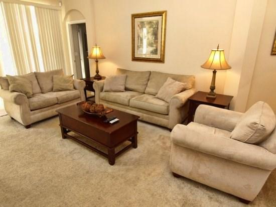 Living Area - TLCP6P246MC Cozy 6 Bedroom Villa with Luscious Conservation View - Haines City - rentals