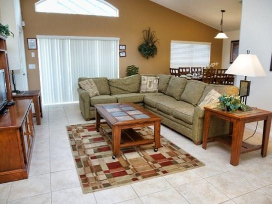 Living Area - WAS3P824OCB 3 BR Villa with Lake View and Free Internet - Davenport - rentals