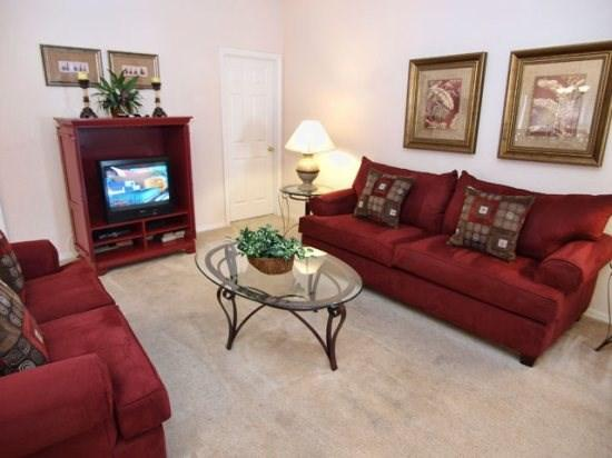 Living area with TV set - HG3P418SPL 3 BR Vacation Pool Home with Amenities Galore! - Four Corners - rentals