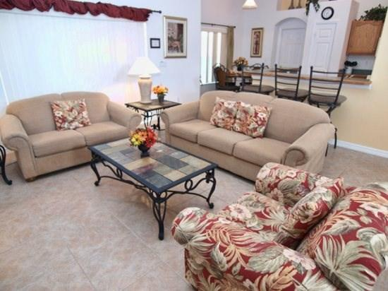 Family Room - OT3P16143MHS 3 BR Lovely Pool Home with Stunning Views - Clermont - rentals