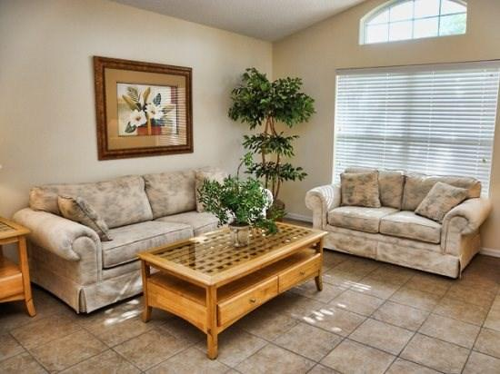 Living Area - S4P225CA Best Deal 4BR Florida Villa Near Walt Disney - Davenport - rentals