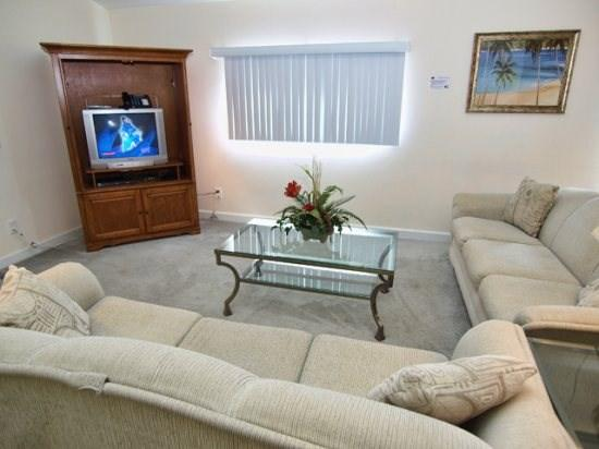 Living Area with TV set - WS4P519OBC 4 BR Disney Villa with Large Pool and Spa - Davenport - rentals