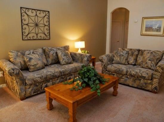 Living Area - CP4P443TC 4 BR Private Pool Home with Modern Amenities - Davenport - rentals
