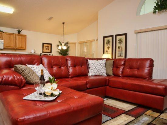 Living Area - HG4P116BD 4 BR Luxurious Pool Home For Your Perfect Vacation - Davenport - rentals