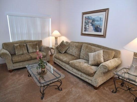 Living Area - CM5P4812CLD 5 BR Elegant Pool Home with a View - Kissimmee - rentals
