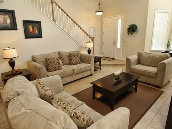 Living Area - PROV5P2179VD 5BR South Facing Pool Home with Lake View - Davenport - rentals